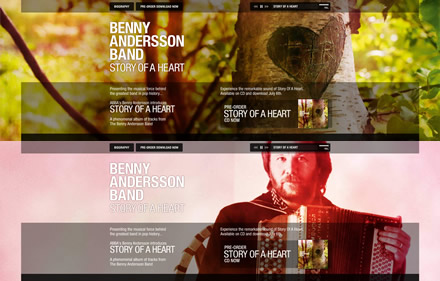 Benny Andersson Band website
