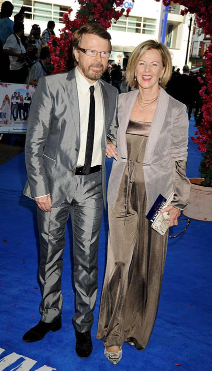 Björn and Frida pictured together at the Mamma Mia! World premiere - 30 June, 2008