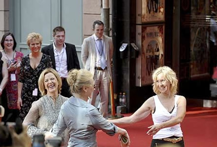 Frida, Agnetha and Meryl on the red carpet - Photo: Gunnar Lundmark