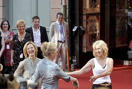Frida, Agnetha and Meryl on the red carpet - Photo: Gunnar Lundmark