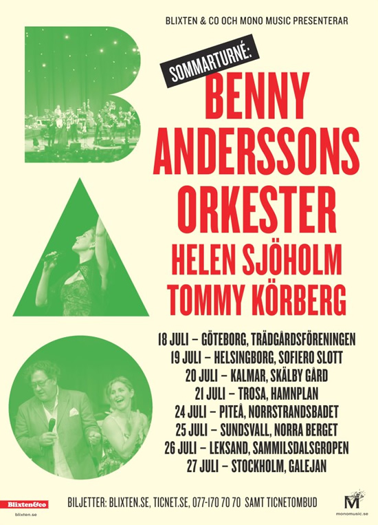 New BAO Tour Poster reflects the change of Stockholm venue