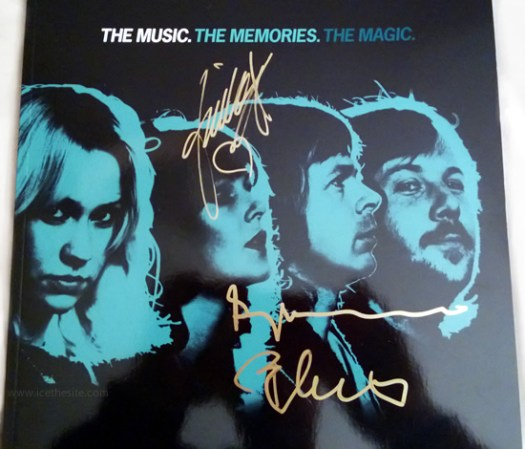 Win an ABBA The Museum souvenir brochure signed by Benny, Björn and Frida