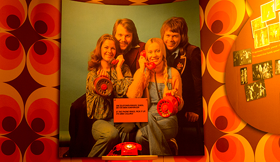 The big red phone at ABBA The Museum which has been called by all the members of ABBA.