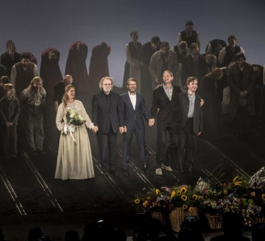 Benny & Björn on stage at the last premiere of 'Kristina'