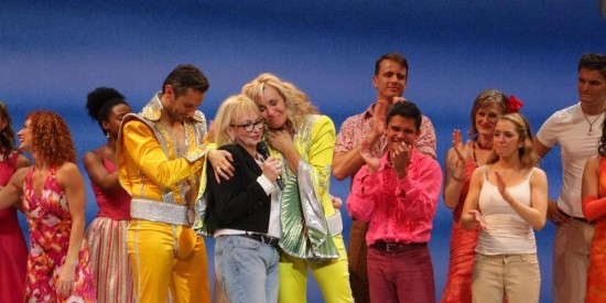Judy Cramer at the final performance of Mamma Mia! on Broadway - Photo:David Gorden