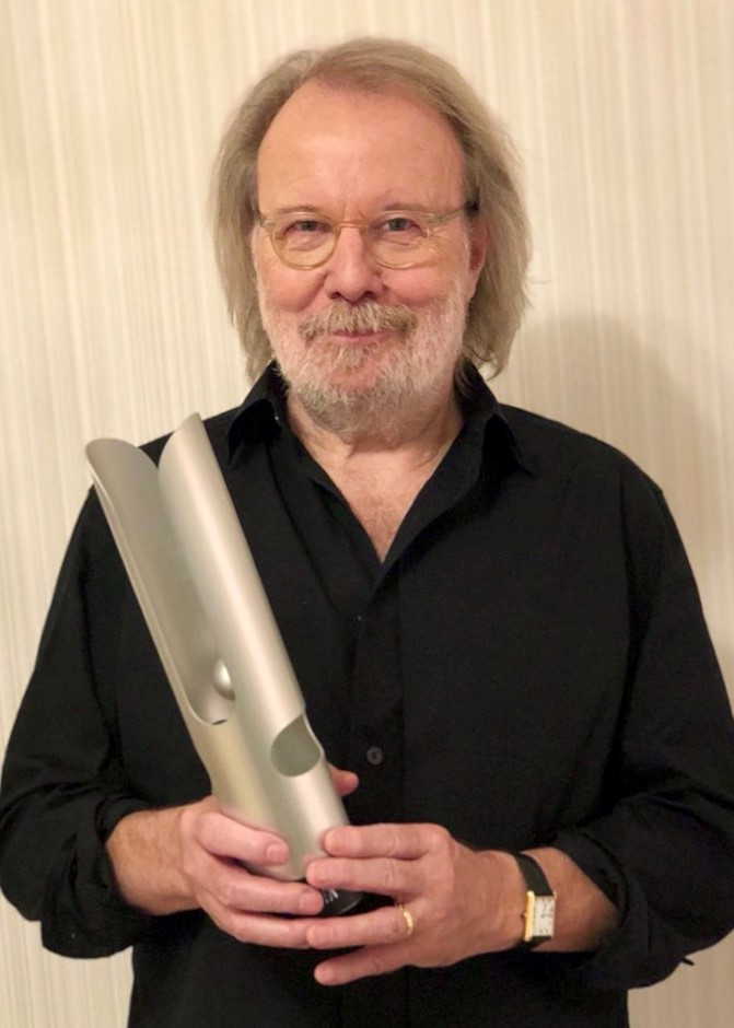 Benny Andersson with his Opus Klassik award