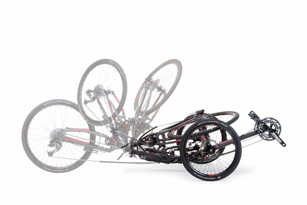 ICE Sprint X Sporty Folding Practical Recumbent Trike, Bike