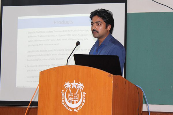 11 Dr. Satya Pavan Kumar Varma Chekuri giving presentation at IC InnovatorClub Fifth Meeting