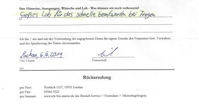 Mietermeinung aus Luckau zu Mietwohnungen