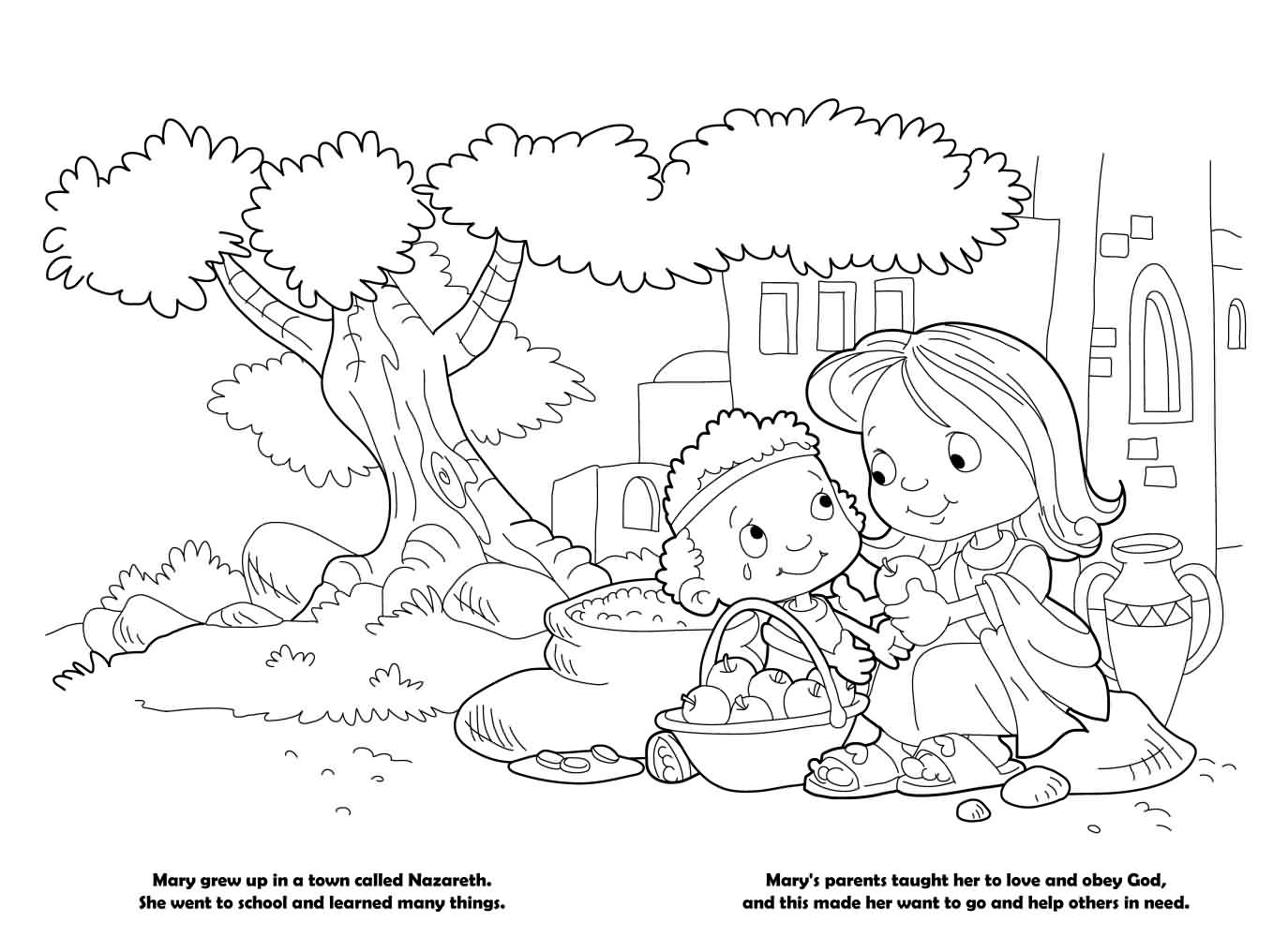 Mary – Coloring Book
