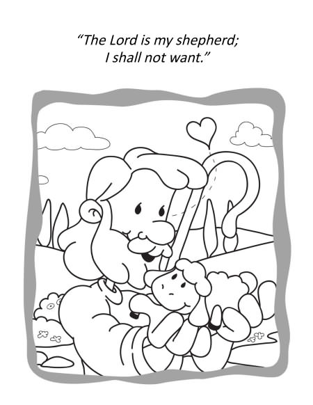 Psalm 23 – Coloring Book
