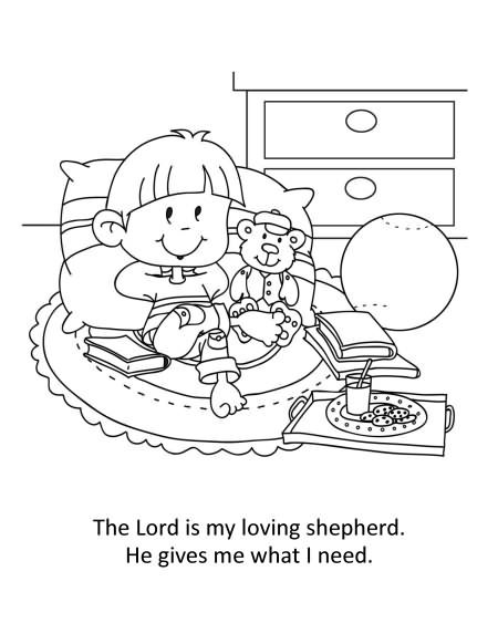 psalm 23 coloring pages 28 images the lord is my shepherd - Psalm 23 Coloring Page