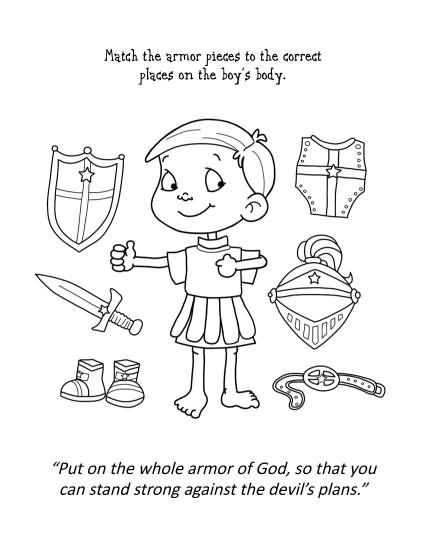 Ephesians 6 – Coloring and Activity Book