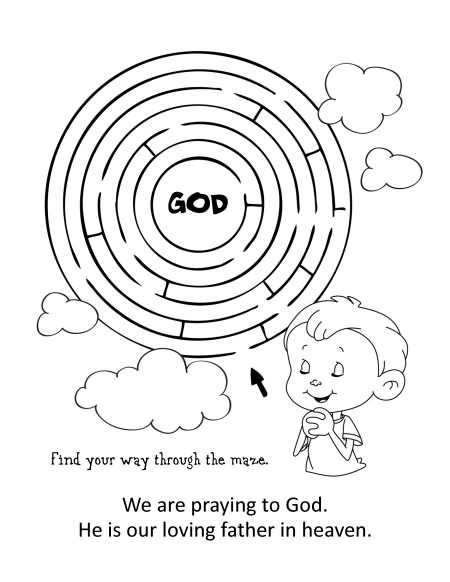 The Lord's Prayer – Coloring and Activity Book