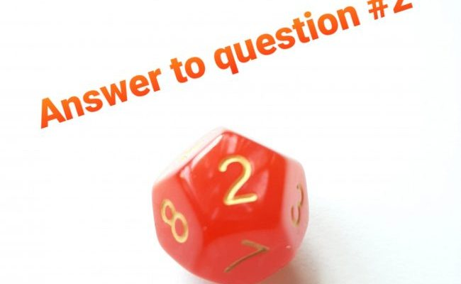 60 questions – Answer #2