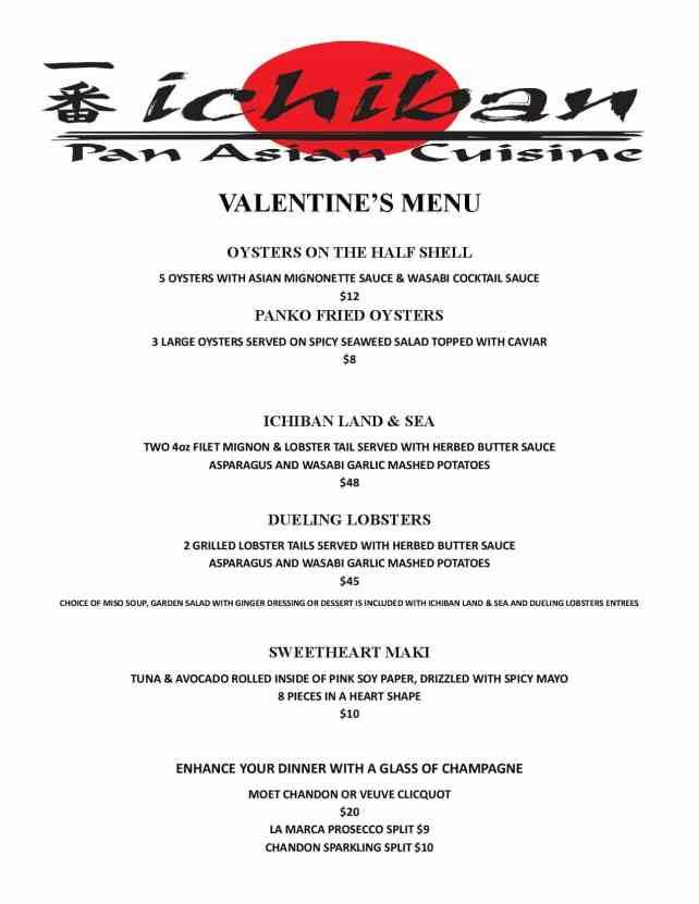 Charleston WV Restaurants Ichiban Menu