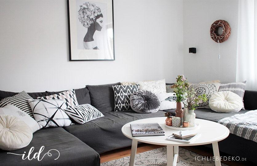 Offenes WohnEsszimmer im nordischen Stil  Ich Liebe Deko
