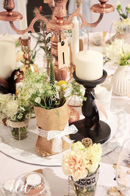 Hochzeitsdeko im VintageStil  Ich Liebe Deko