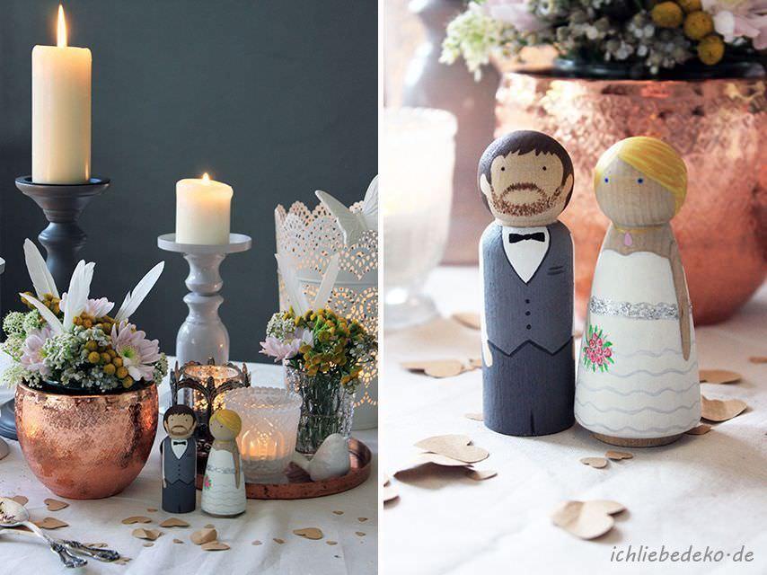 Verspielte Hochzeitsdeko im VintageStil