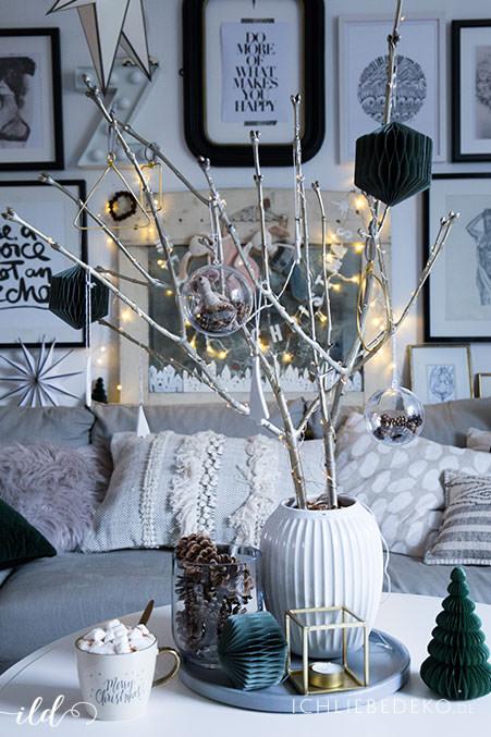 Skandinavische Weihnachtsdeko im Wohnzimmer  jetzt wirds hyggelig  Ich Liebe Deko