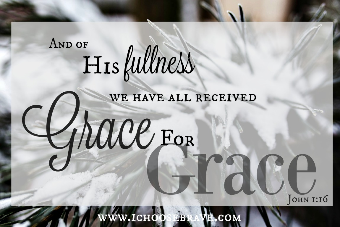 What a glorious gift. Because of Him we receive grace upon grace. <a target=