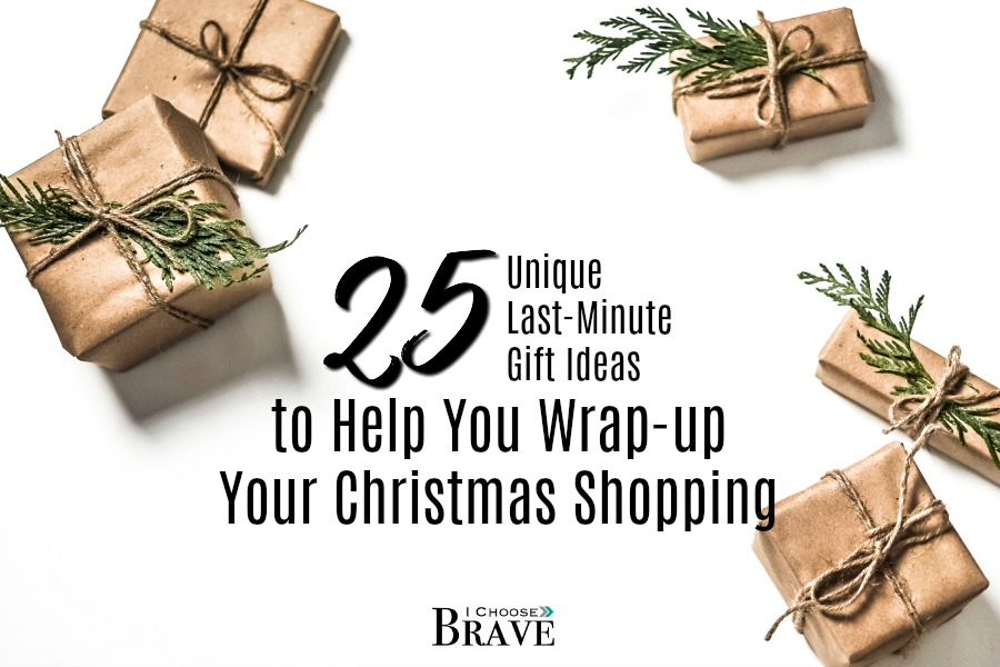 Christmas will be here before we know it! Here are 25 unique and creative last minute gift ideas to help you finish your shopping and enjoy the holiday! #Christmas #giftideas