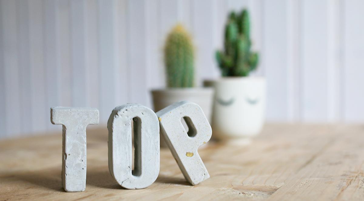 diy - kleine betonbuchstaben selber gießen – ichsowirso