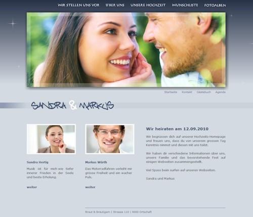 ichwnschecom  Ihre Hochzeitshomepage mit Wunschliste