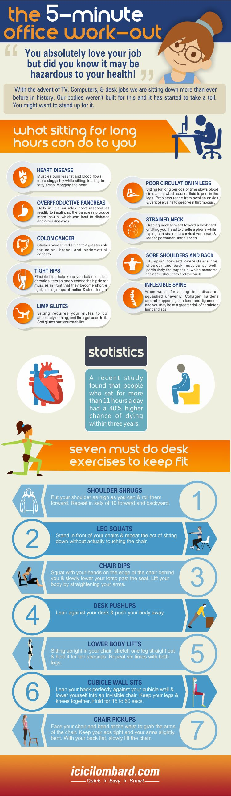 Office Exercise that Keep you Fit