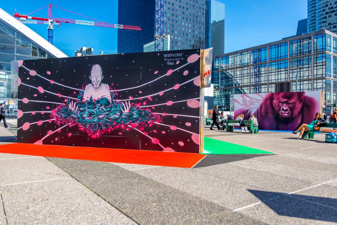 Street Art Blog voyage La Defense Paris urban art