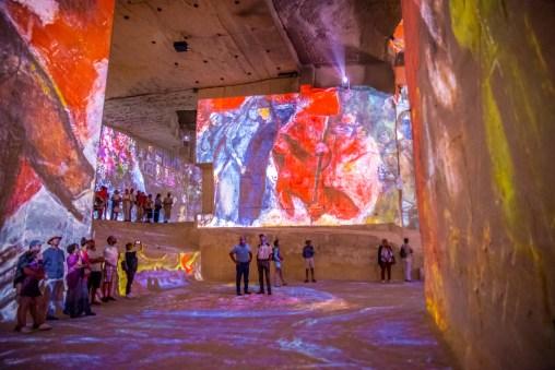 Carrières de Lumières Baux-de-Provence Edition Chagall blog voyage icietlabas