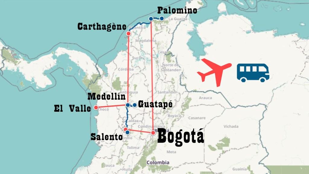 Itinéraire trois semaines Colombie Icietlabas blog voyage