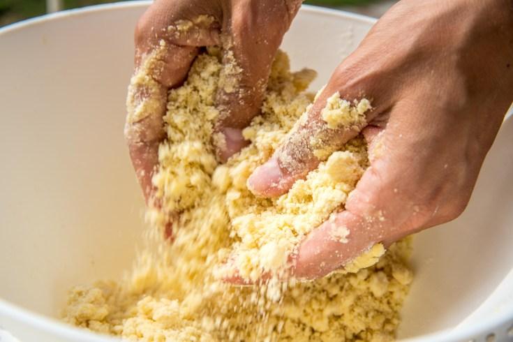 Sabler une pâte tarte bourdaloue