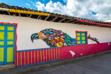 Street Art à Salento Village Colombie Quindío Blog Voyage