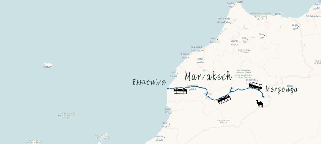 Carte Maroc Une semaine au Maroc