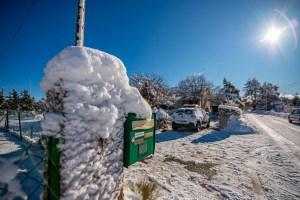 Caussols pendant l'hivers avec son manteau blanc voyage