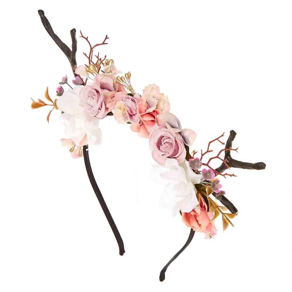 Deer Antler Flower Crown Headband Icing US