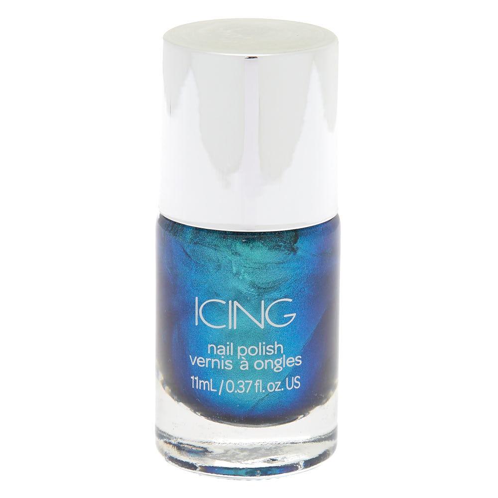 metallic nail polish - ocean blue