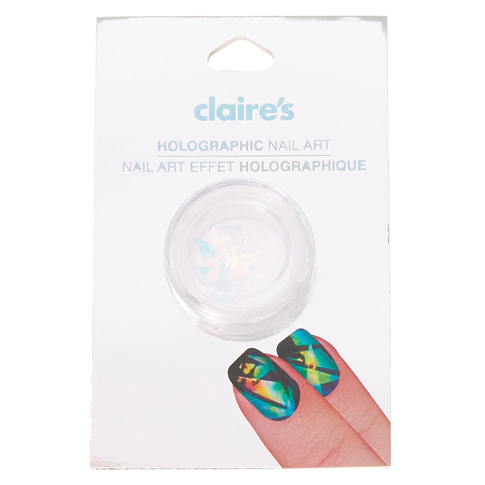 iridescent holographic nail art