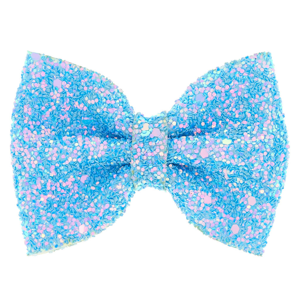 mini glitter hair bow clip - baby
