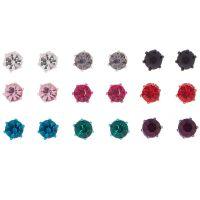 Rainbow Crystal Stud Earrings - 9 Pack | Icing US