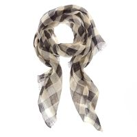 Black & White Checkered Knit Scarf | Icing US