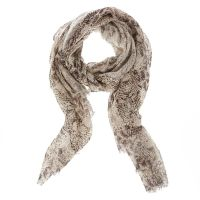 Black & White Knit Snake Print Scarf | Icing US