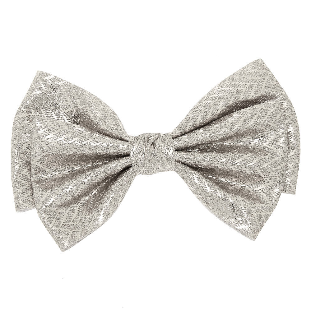 glitter chevron hair bow clip
