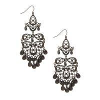 Black Chandelier Drop Earrings | Icing US
