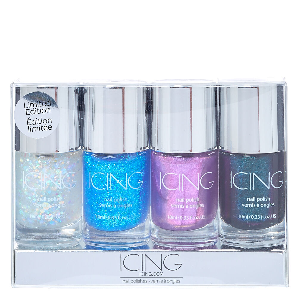 mermaid nail polish 4 pack icing