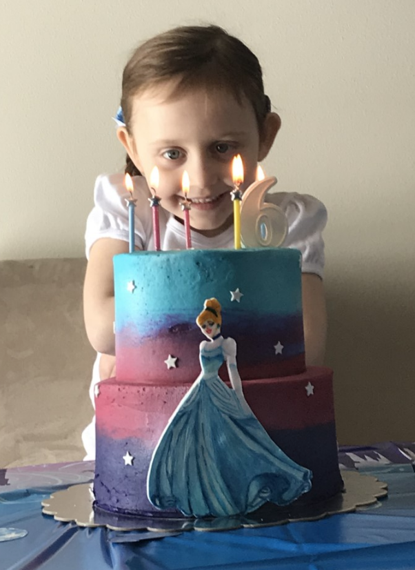 Princess Lydia Celebrates with her Beautiful Cinderella Cake!