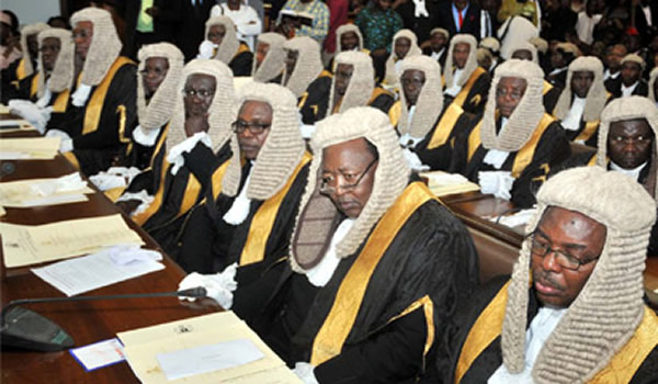 Image result for FG meets Supreme Court Judges, calls for speedy trial of Corruption