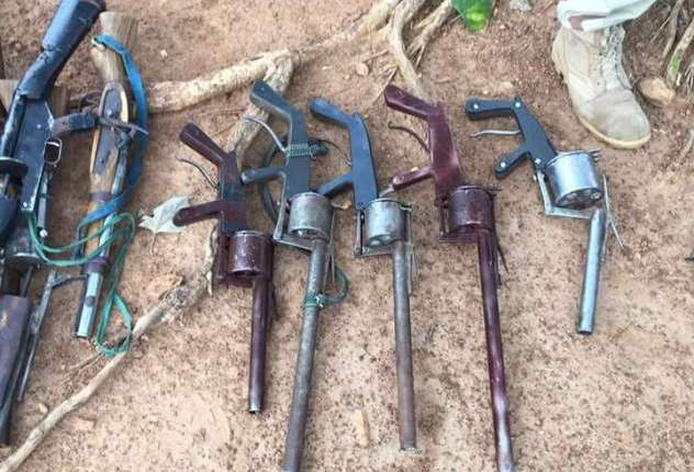 Locally made AK47 guns recovered from some bandits in Nigeria. File photo.