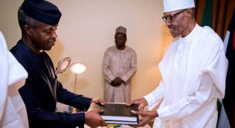 'I won't tell you the details', says Osinbajo as he submits SGF probe report to Buhari